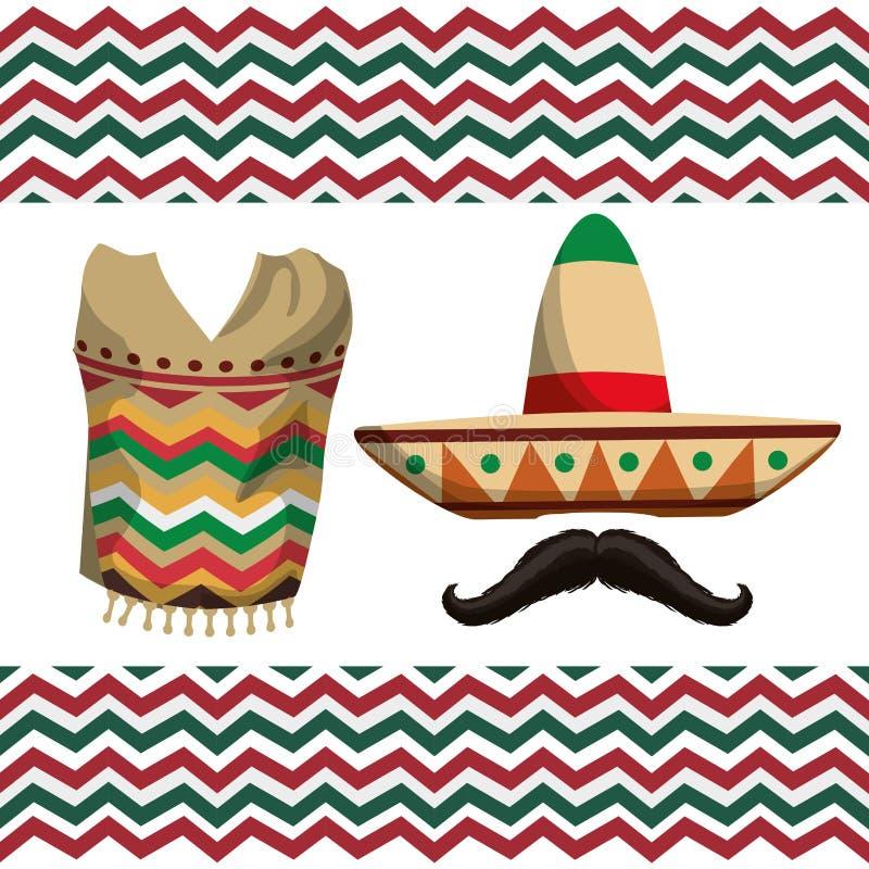 Meksyk ikony projekt royalty ilustracja