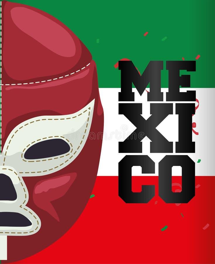 Meksyk kultura i punktu zwrotnego projekt royalty ilustracja