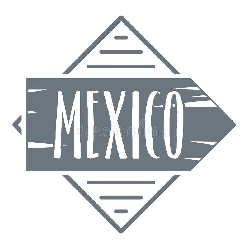 Meksyk logo, rocznika styl ilustracja wektor