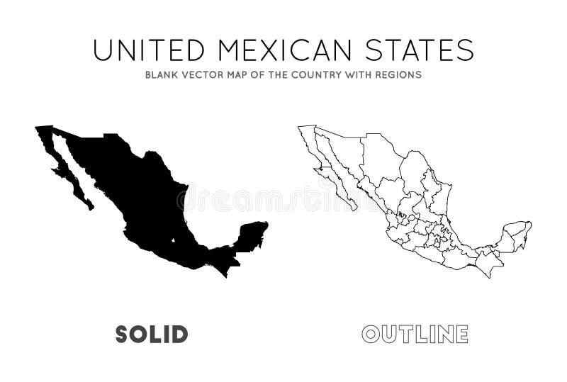 Meksyk mapa ilustracja wektor