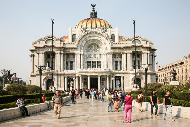Palacio De Bellas Artes w Meksyk, Meksyk. obraz royalty free
