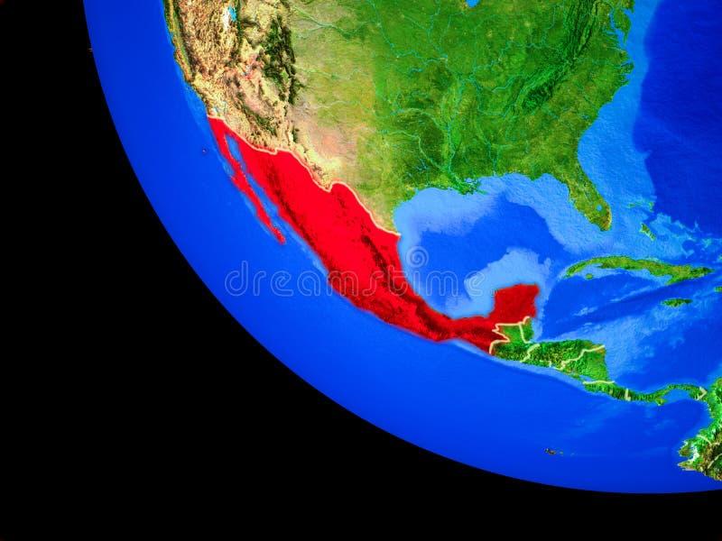 Meksyk na ziemi od przestrzeni royalty ilustracja
