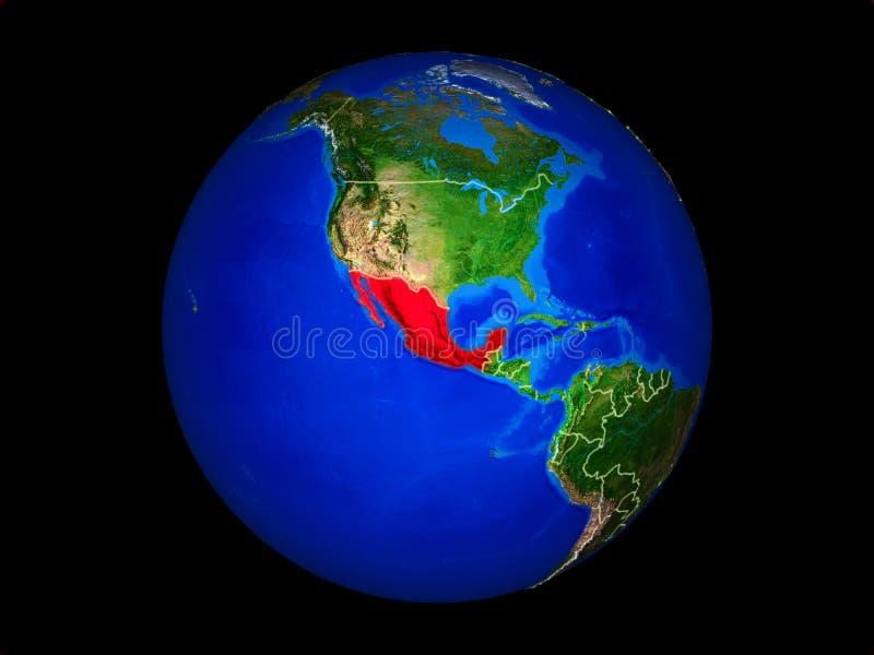 Meksyk na ziemi od przestrzeni ilustracji
