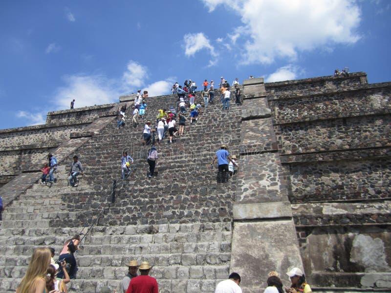 Meksyk, ostrosłupy Teutihuacan Ostrosłup saun obrazy stock