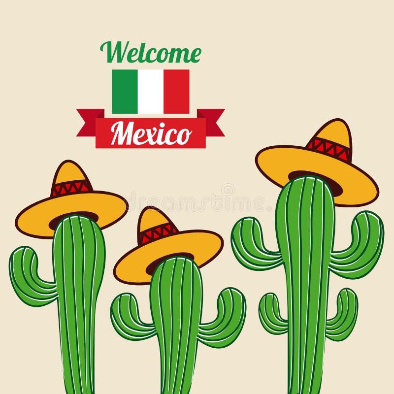 Meksyk projekt royalty ilustracja