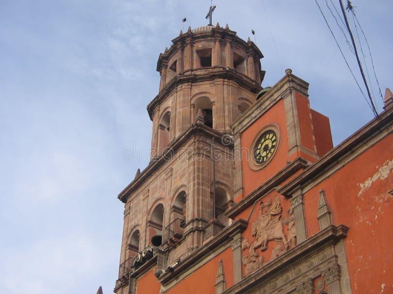 Meksyk queretaro do kościoła zdjęcie royalty free