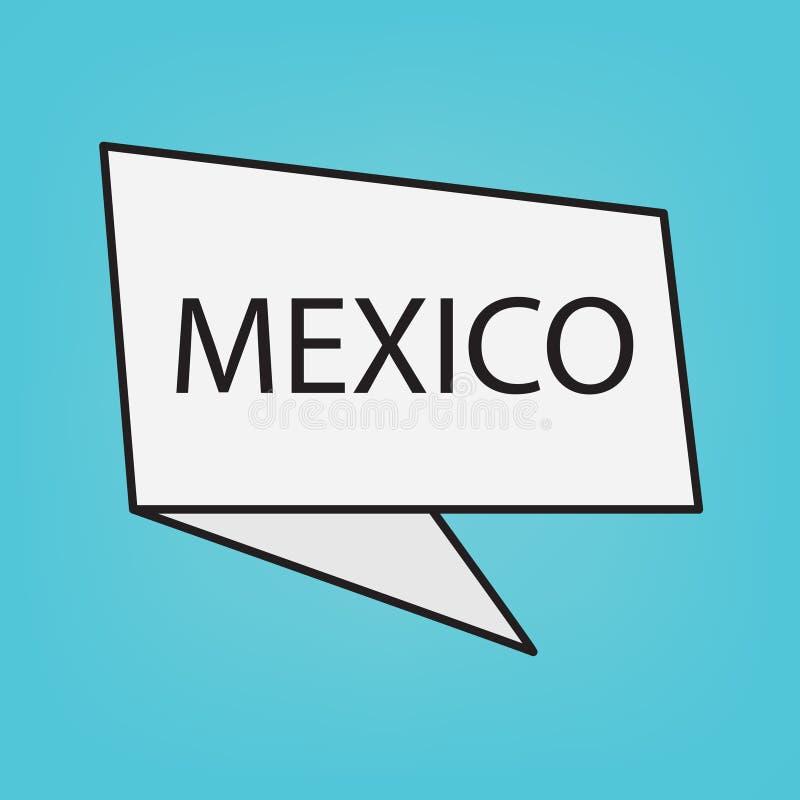 Meksyk słowo na majcherze ilustracji