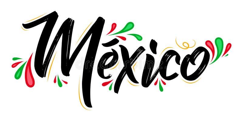 Meksyk sztandaru Patriotycznego projekta Meksykańska flaga barwi wektorową ilustrację