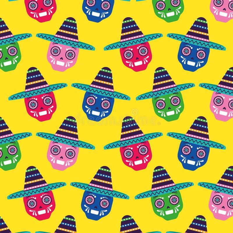 Meksyk t?a wz?r ilustracja wektor