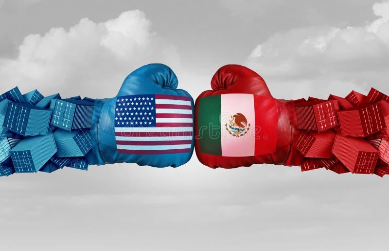 Meksyk usa handlu wyzwanie royalty ilustracja
