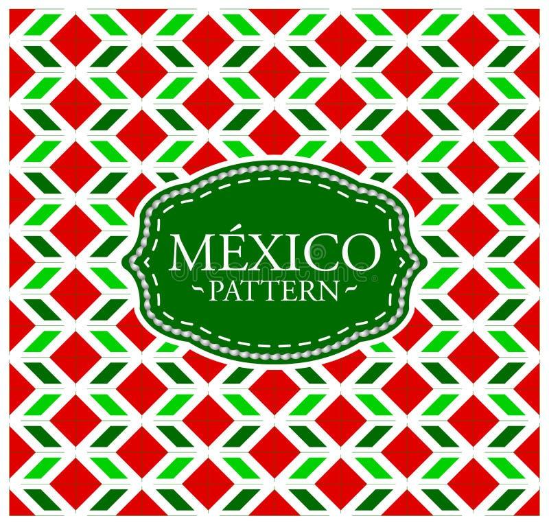 Meksyk wzór ilustracji