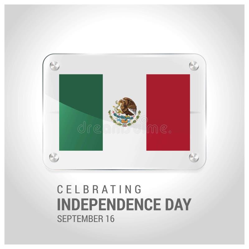 Meksyk Zaznacza drzwi Plat z literowanie odświętności niezależnością Da