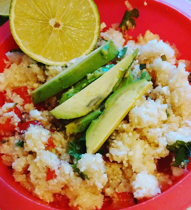Meksykańscy Kalafiorowi ryż zdjęcia stock