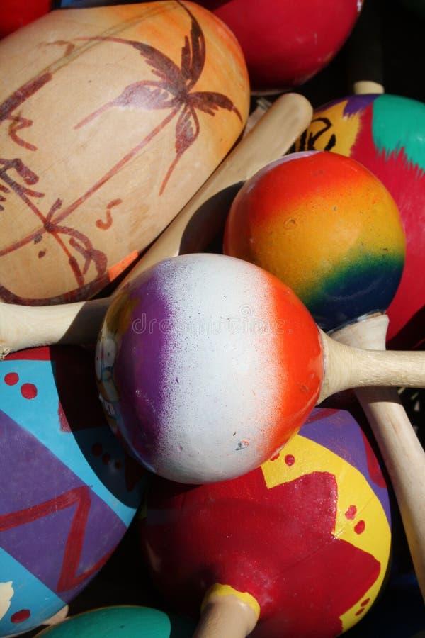meksykańscy kolorowi marakasy obrazy stock
