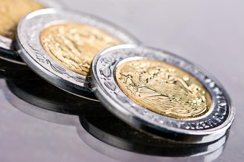 Meksykańscy peso zdjęcia royalty free