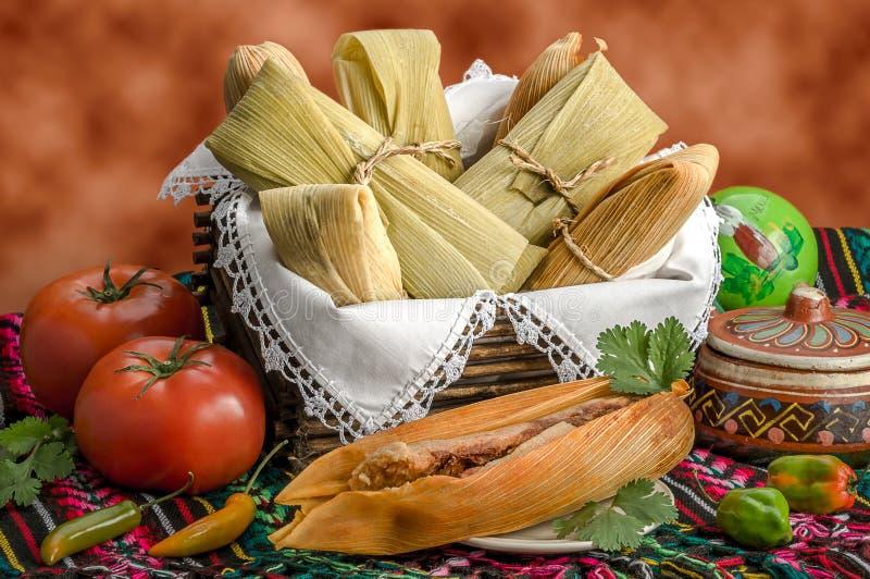 Meksykańscy tamales robić kukurudza i kurczak zdjęcia royalty free