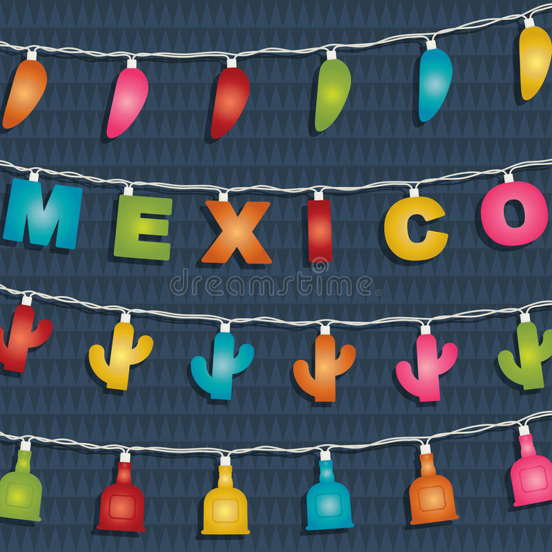 Meksykańska dekoracja royalty ilustracja