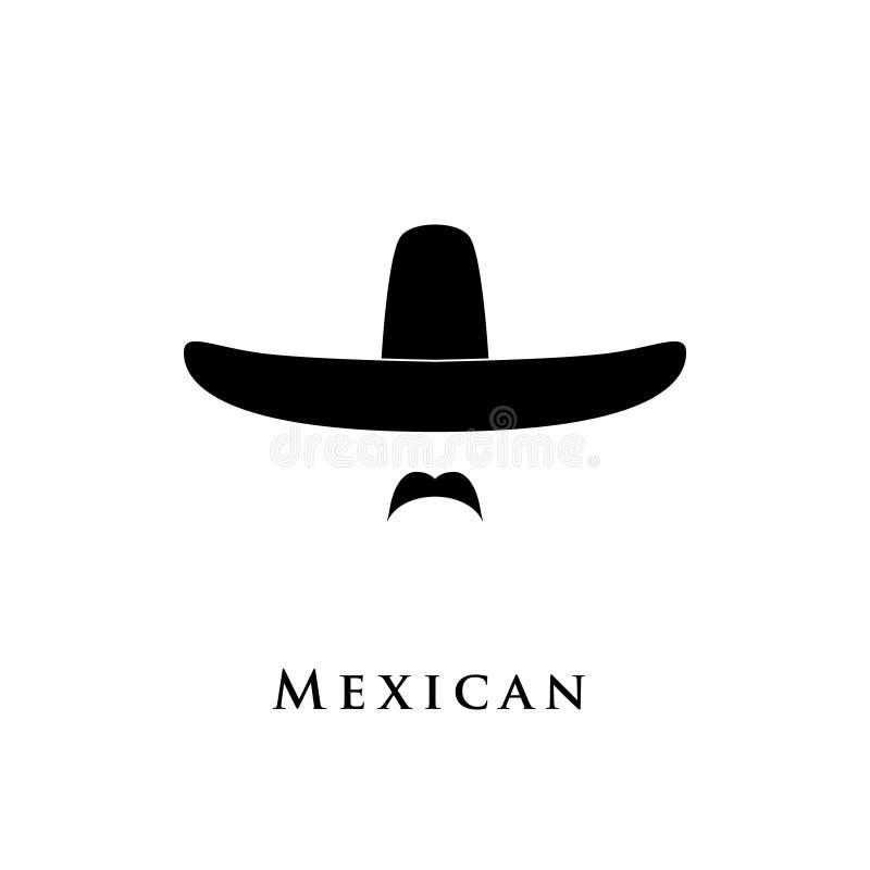 Meksykańska mężczyzna ikona ilustracja wektor