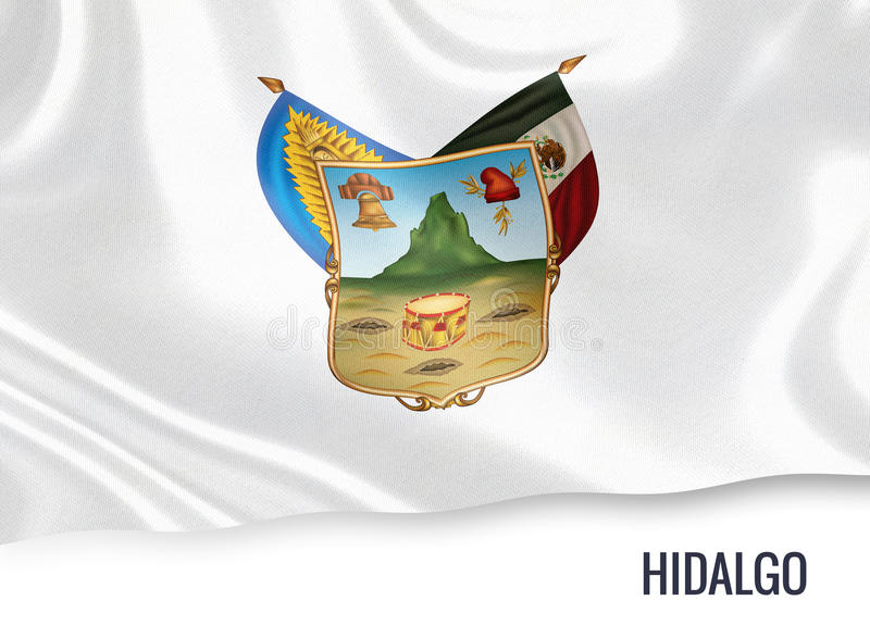 Meksykańska stanu hidalga flaga ilustracji