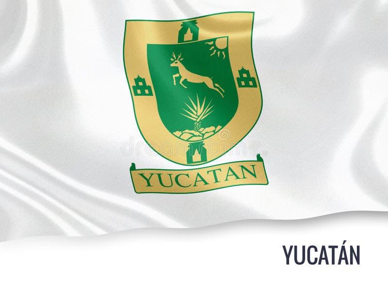 Meksykańska stanu Jukatan flaga royalty ilustracja