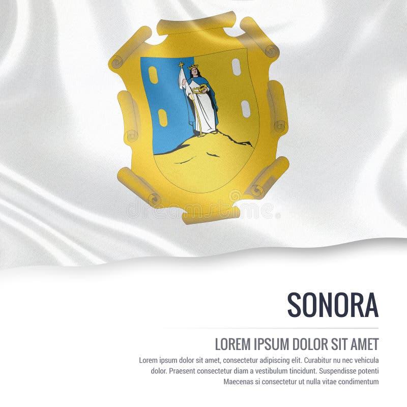 Meksykańska stanu Sonora flaga ilustracja wektor