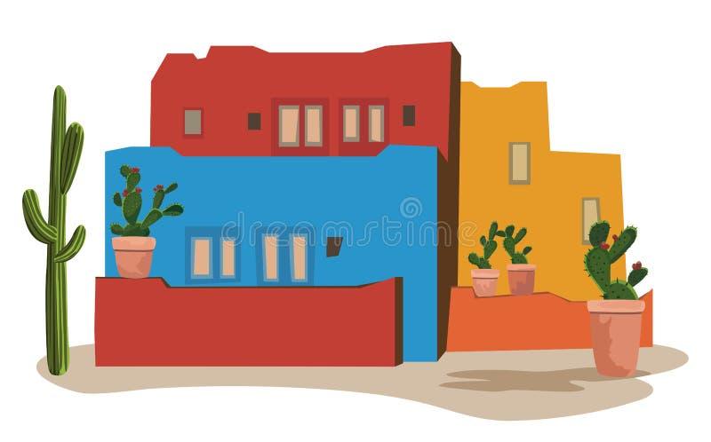 meksykańska wioska ilustracja wektor