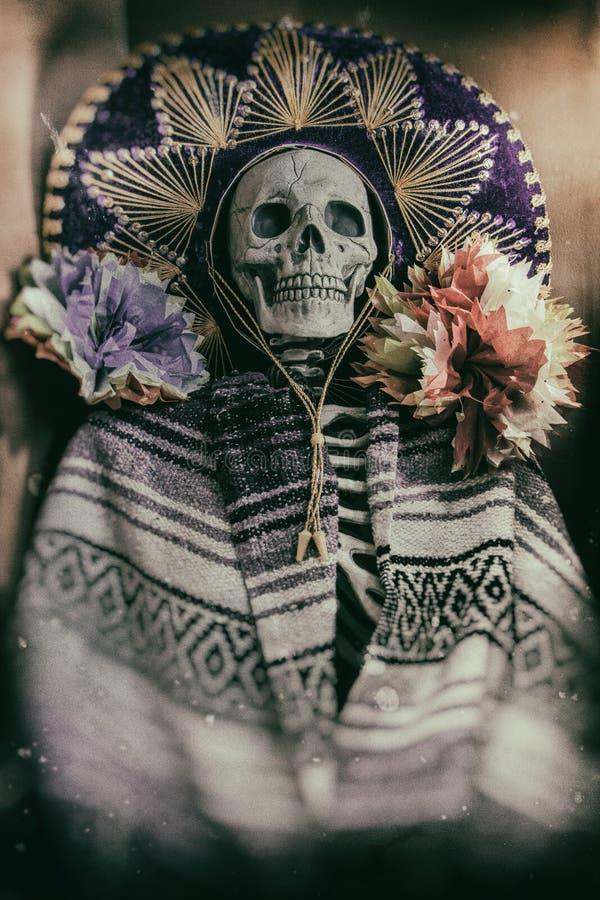 Meksykański Bandycki kościec fotografia royalty free