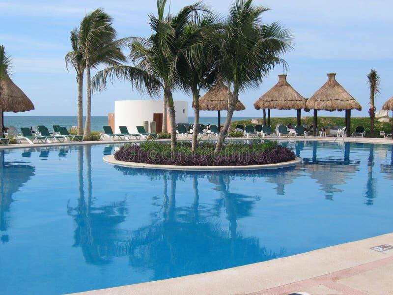 meksykański basen kurort obrazy royalty free