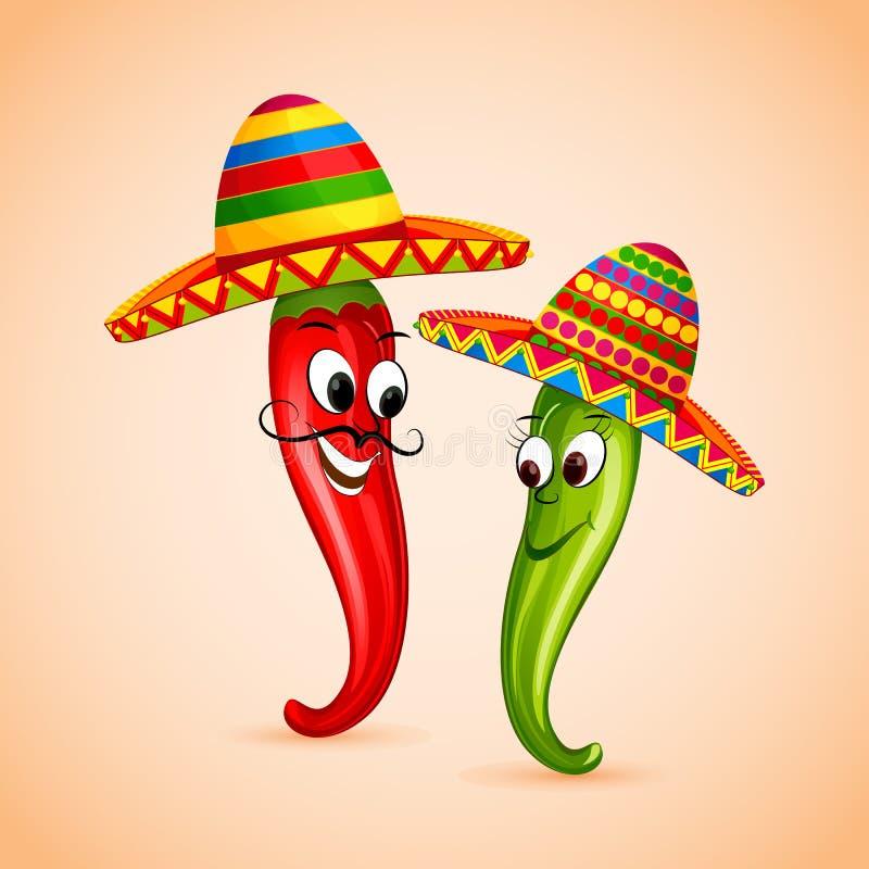 Meksykański chili ilustracji