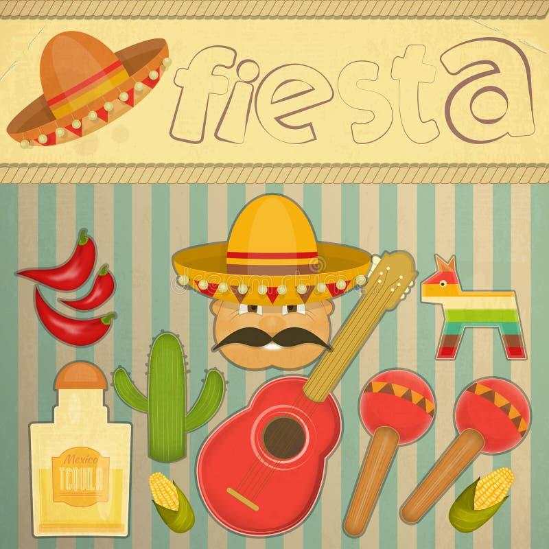 Meksykański fiesta ilustracja wektor