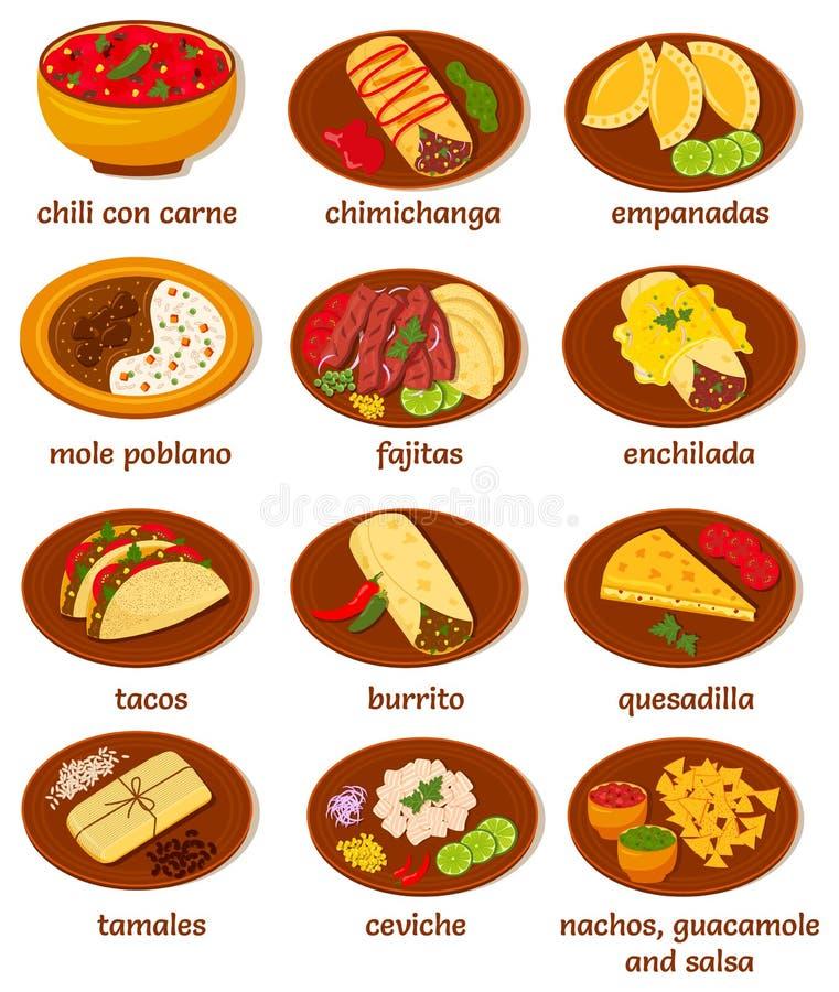 Meksykański jedzenie ilustracji