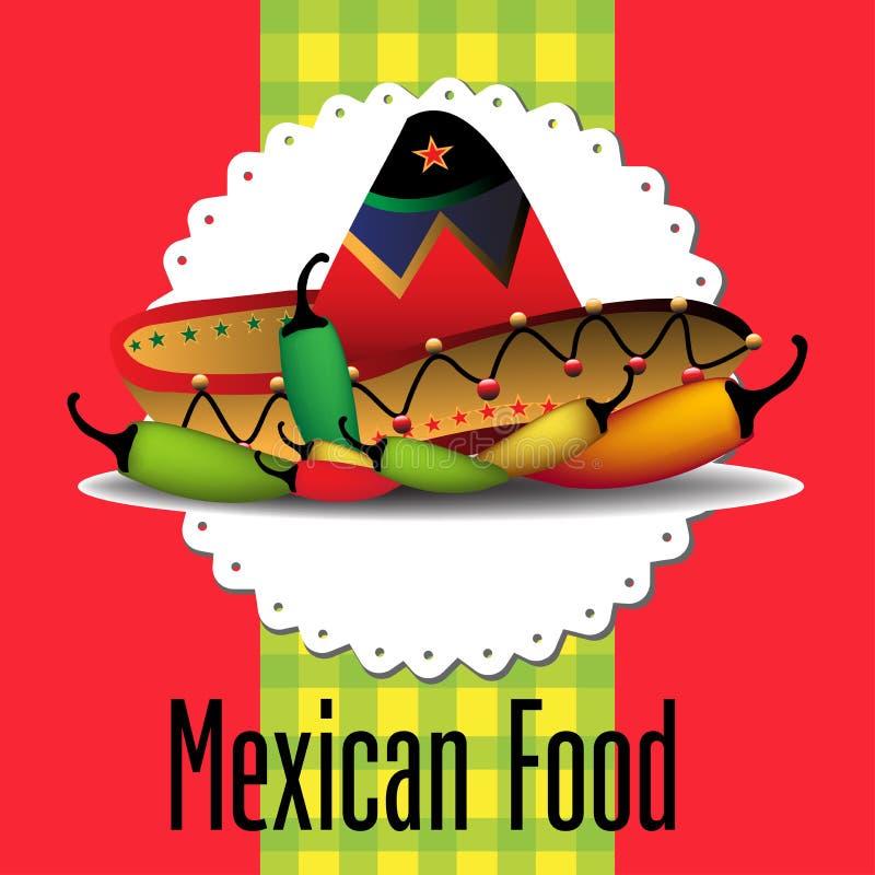 Meksykański jedzenie royalty ilustracja