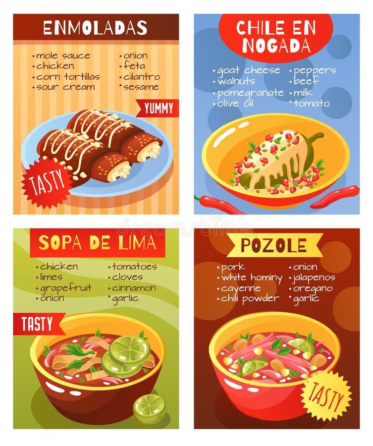 Meksykański jedzenie Rozdaje pojęcie ilustracji