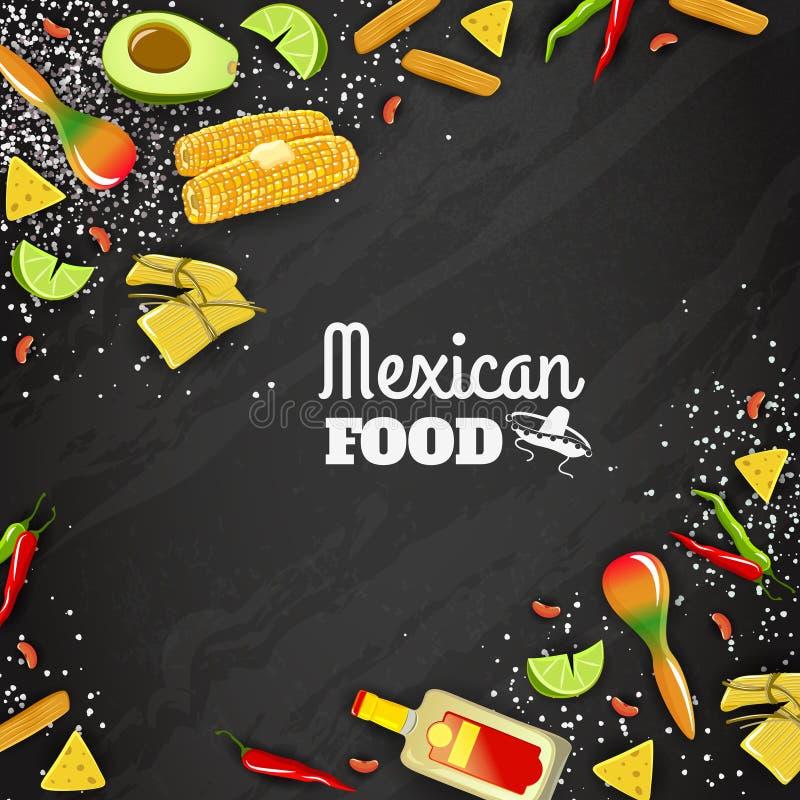 Meksykański Karmowy Bezszwowy tło royalty ilustracja