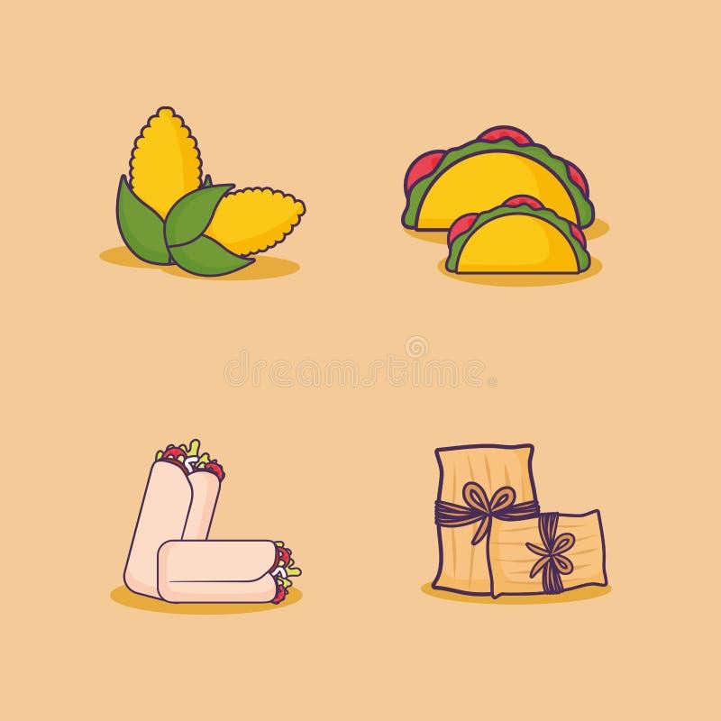meksykański karmowy projekt ilustracji