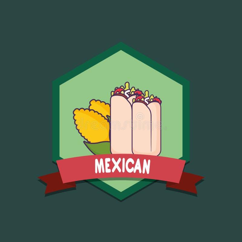 meksykański karmowy projekt ilustracja wektor
