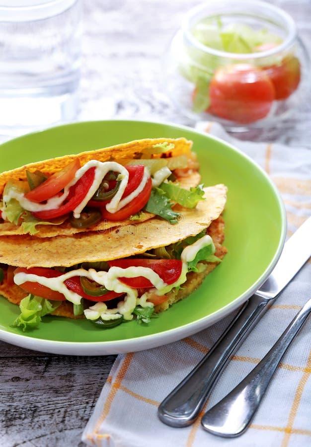 Meksykański klasyk minced taco wołowina zdjęcia stock