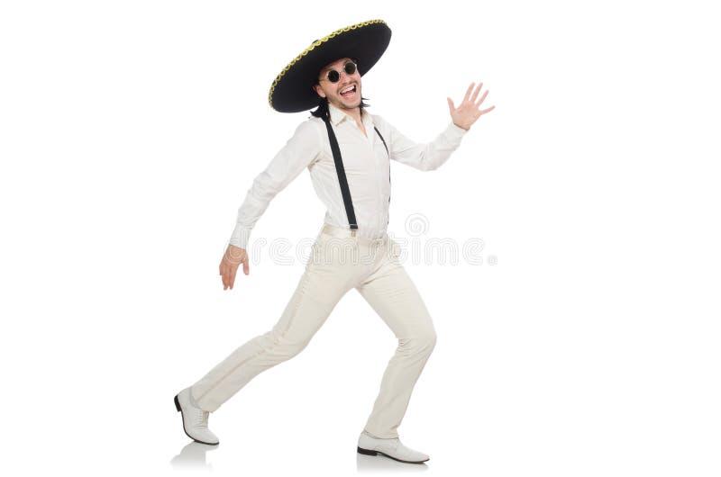Meksykański mężczyzna jest ubranym sombrero zdjęcia royalty free