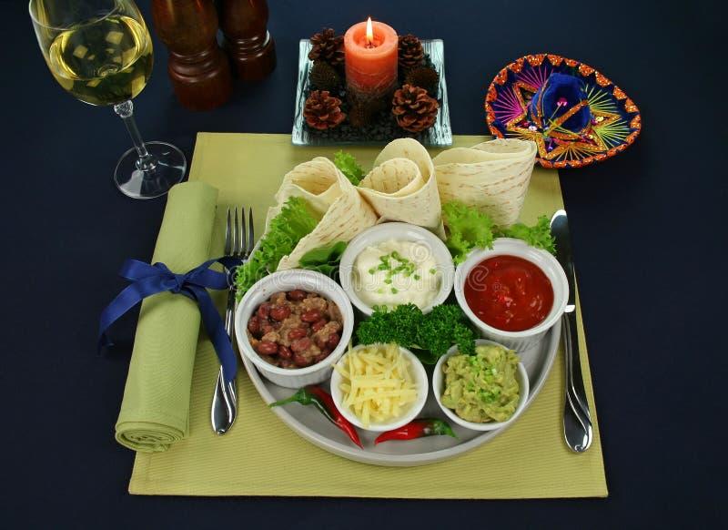 meksykański półmiska wegetarianin zdjęcia stock