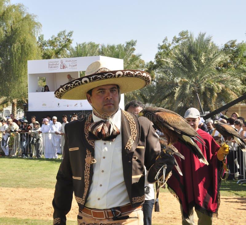 Meksykański sokolnik zdjęcia royalty free