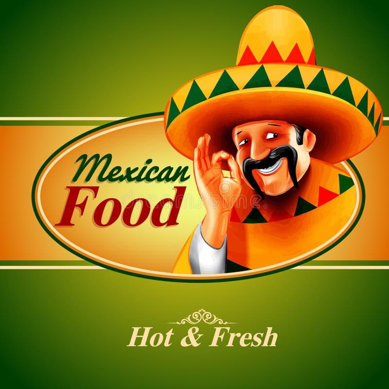 Meksykański sztandar ilustracji