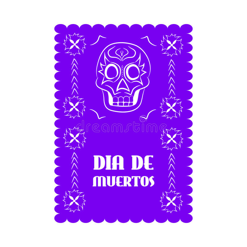 Meksykański sztandar, Mexico royalty ilustracja