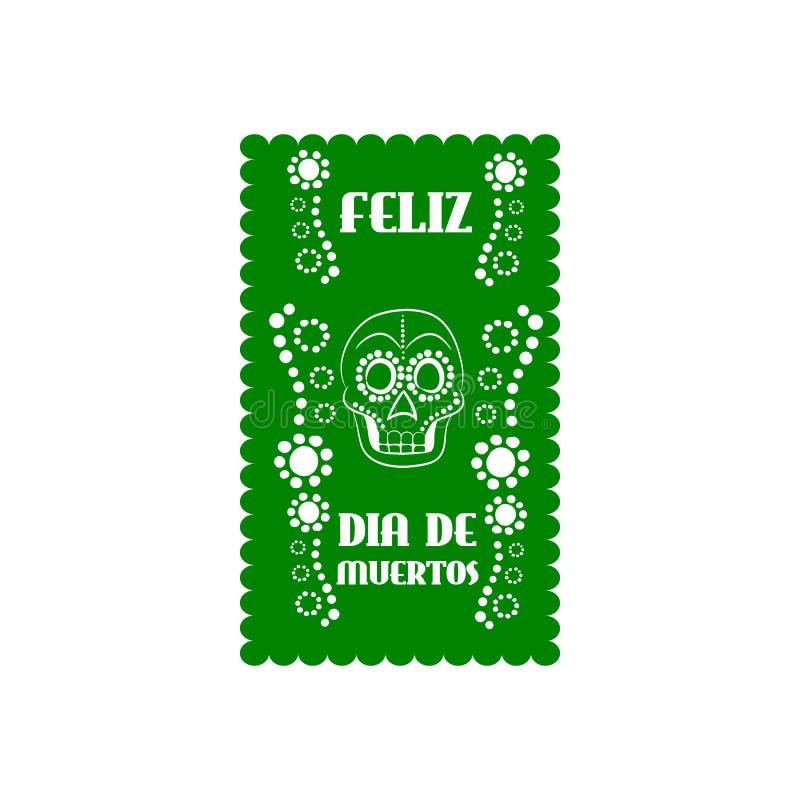Meksykański sztandar, Mexico ilustracja wektor
