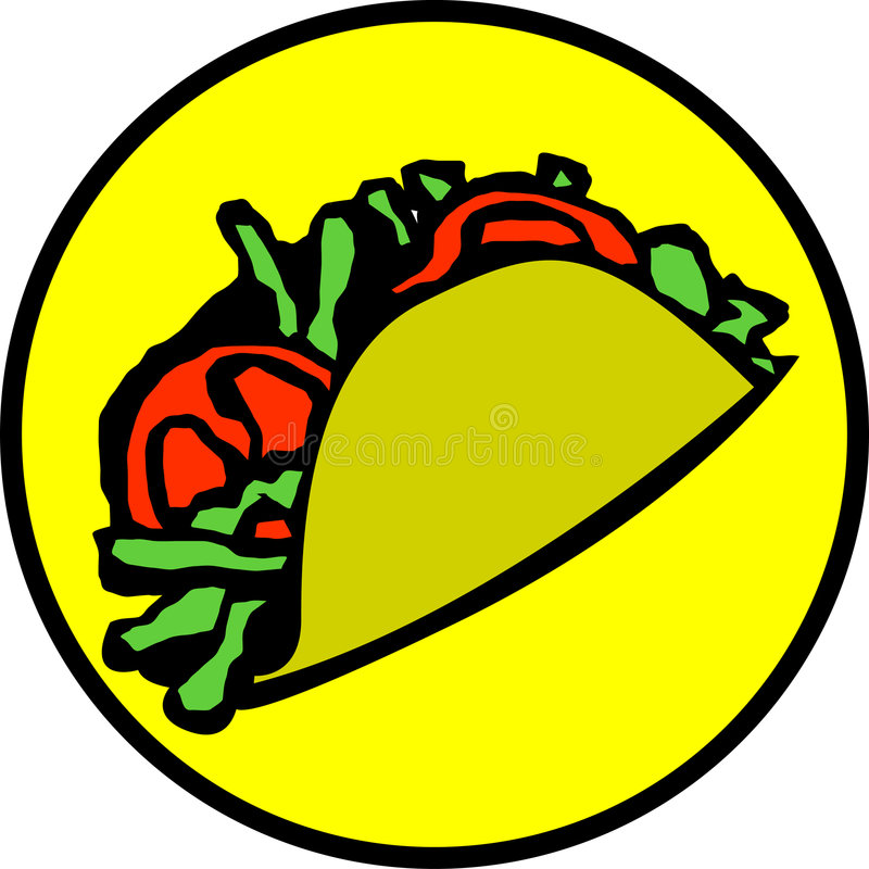 meksykański taco ilustracja wektor