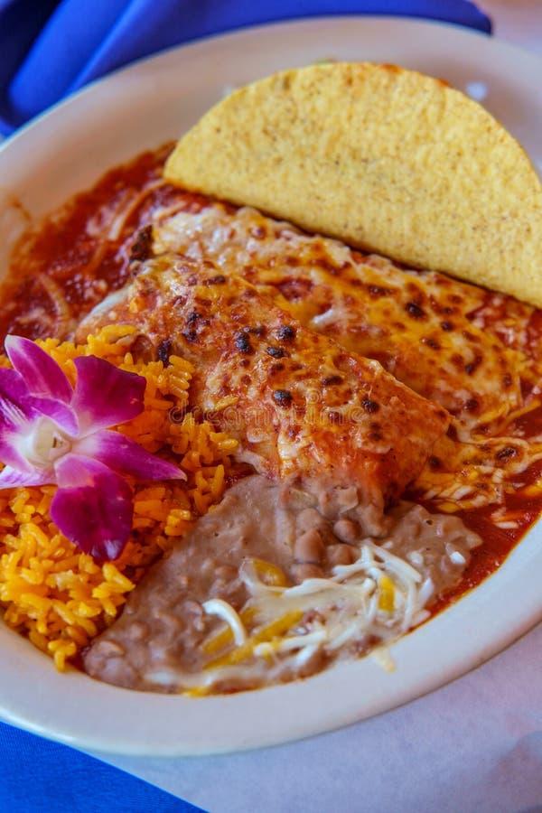 Meksykański Tamale Enchilada Taco obraz stock