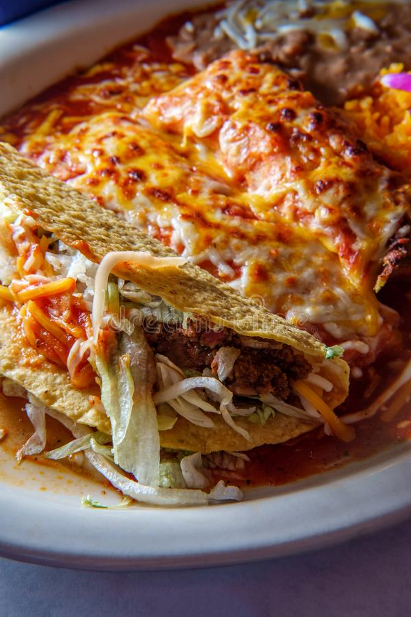 Meksykański Tamale Enchilada Taco fotografia stock
