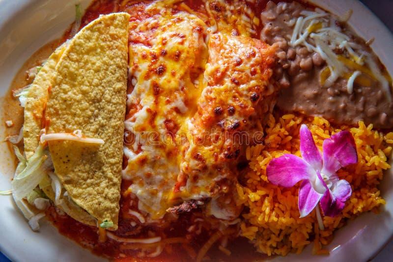 Meksykański Tamale Enchilada Taco zdjęcia stock