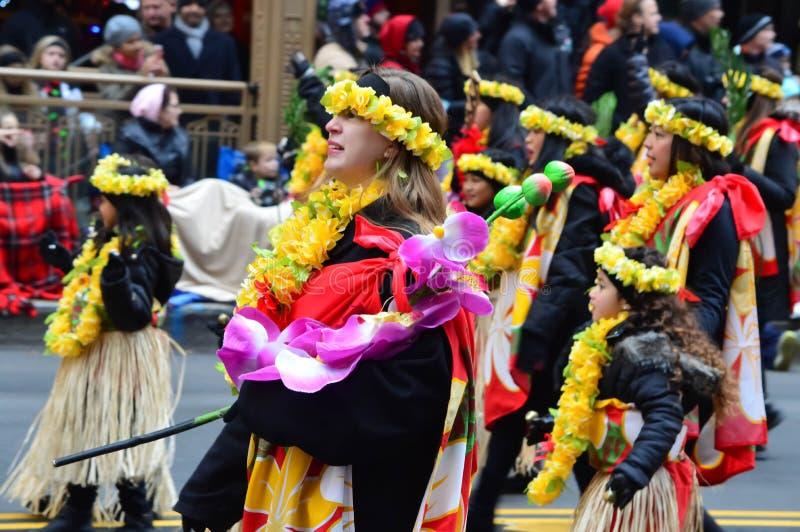 Meksykański taniec w dziękczynienie paradzie zdjęcia stock