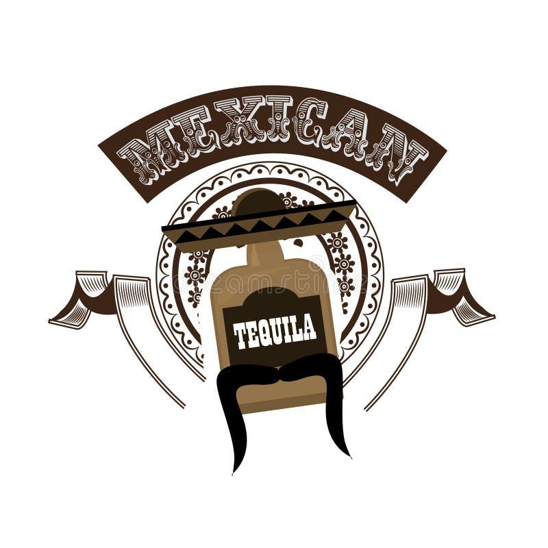Meksykański Tequila znak również zwrócić corel ilustracji wektora royalty ilustracja