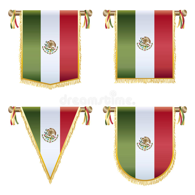 Meksykańskie banderki ilustracja wektor